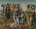 Francesco Botticini (Werkstatt) - Die drei Erzengel mit dem kleinen Tobias - 1069 - Bavarian State Painting Collections.jpg