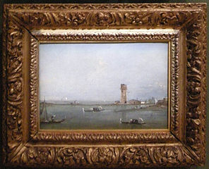 Gates of Venice (View of the Venetian lagoon with the Tower of Marghera)