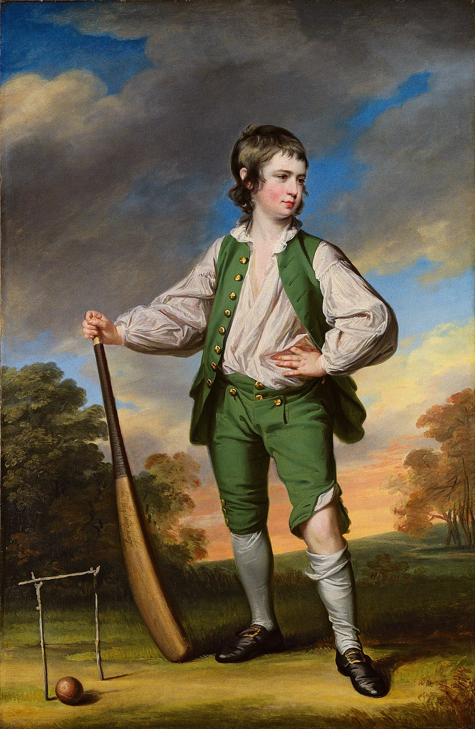 Francis Cotes - The young cricketer (1768)