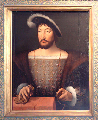 Siege of Perpignan (1542) - Francis I of France by Joos van Cleve.