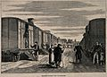 Franco-Prussian War; the use of railway carriages as hospita Wellcome V0015465.jpg