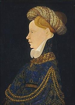 Franco Flemish c. 1410 - Profile Portrait of a Lady - NGA 1937.1.23.jpg