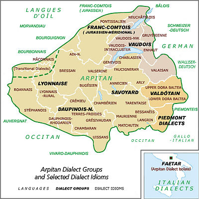 Carte dialectes 400px-arpitan-Dialect-Map-1