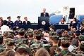 Frank Murkowski speaks to troops assembled at Eielson.jpg