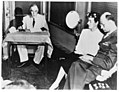 Franklin D. Roosevelt accepts nomination by DNC at Chicago from train at San Diego, California with Mr. & Mrs. James Roosevelt. July 20, 1944.jpg