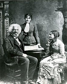 Example Of A Good Thesis Statement For An Essay Frederick Douglass After  With His Second Wife Helen Pitts Douglass  Sitting The Woman Standing Is Her Sister Eva Pitts How To Write A Research Essay Thesis also Essay Examples For High School Frederick Douglass  Wikipedia Synthesis Essay