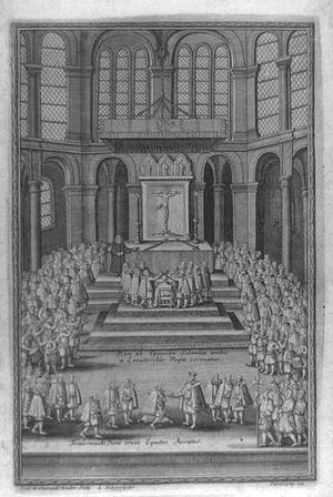 Coronation of the Danish monarch - Coronation of King Frederick II in St. Mary's Cathedral in Copenhagen in 1559.