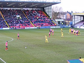 Free kick at Sincil Bank, Lincoln.jpg