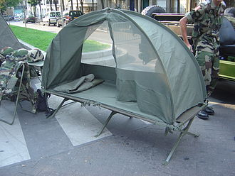 Camp bed - Image: French portable field bed dsc 06886