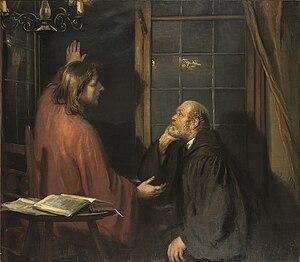 Nicodemus - Christus und Nicodemus, by Fritz von Uhde (1848–1911)