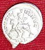 silver coin from the Frome Hoard showing a man on horseback