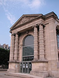 Front of the Galerie nationale du Jeu de Paume in Tuileries Gardens in Paris.jpg