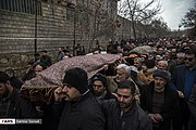 Funeral procession of victims of Ukrainian Boeing 737-800 plane crash in Sanandaj 2020-01-16 05.jpg