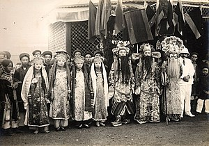 Hát tuồng - Theatre actors from Nam Dinh in 19th century Vietnam.
