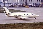 G-BNVY Cessna Citation 1 Gill Air BHX 15-04-88 (30346432478).jpg
