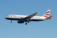 G-EUUZ - A320 - British Airways