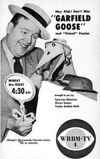 Garfield Goose and Friends - Ad for the show before July 1953 when WBBM-TV began to broadcast as Channel 2.