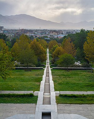 Ruqaiya Sultan Begum - Inside the Gardens of Babur, located in Kabul, Afghanistan