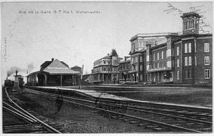 Victoriaville - Victoriaville railway station in 1909