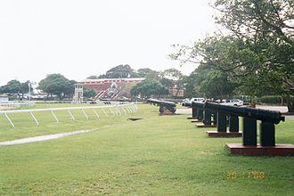 Garrison Historic Area - Image: Garrison area cannons, Barbados