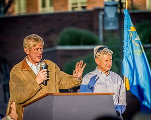 Gary Johnson presidential campaign, 2016 - William Weld and Gary Johnson at a rally in Reno, Nevada, August 2016