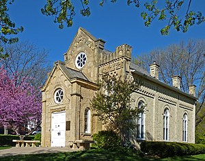 Rundbogenstil - Gates of Heaven Synagogue in Madison, Wisconsin (August Kutzbock, 1863)