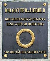 """""""Von Deutschen aller Lande"""", Herderplatz in Weimar (Quelle: Wikimedia)"""