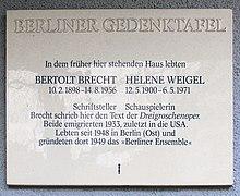 Bertolt Brecht Wikipedia