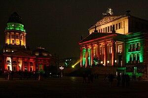 Festival of Lights (Berlin) - Image: Gendarmenmarkt berlin festival of lights 09
