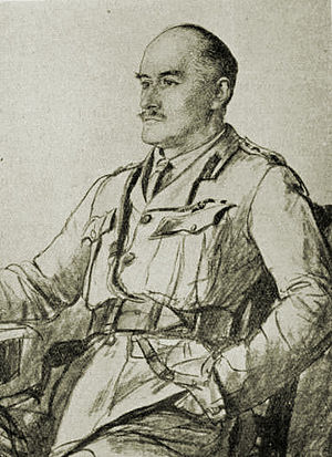 Battle of Nablus (1918) - Drawing of General Allenby c1917