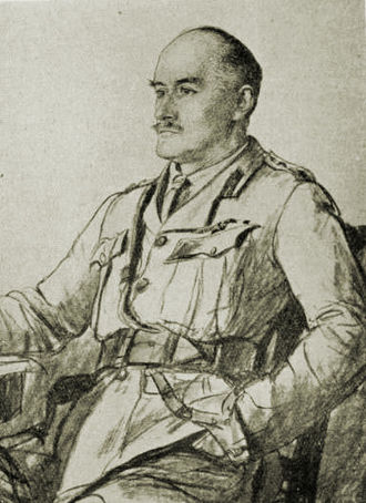 "Edmund Allenby, 1st Viscount Allenby - Drawing of Allenby from journal ""The War"" c. 1917"