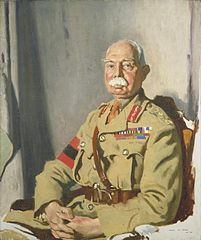 General Sir Herbert C O Plumer, Gcmg, Gcvo, Kcb, painted at Headquarters, Second Army, 1918 Art.IWMART2398.jpg