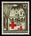Generalgouvernement 1940 52 Rotes Kreuz, Hof der Jagiellonen-Universität in Krakau.jpg