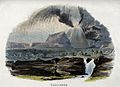 Geography; a volcano in eruption. Coloured wood engraving by Wellcome V0025055.jpg