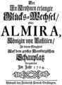 Georg Friedrich Händel - Almira - title page of the libretto - Hamburg 1704.png