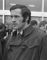 A black and white photograph of George Graham, before his stint as Arsenal manager.