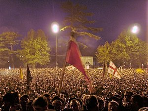 2004 Adjara crisis - Georgians celebrate the Rose Revolution in Tbilisi (November 2003)