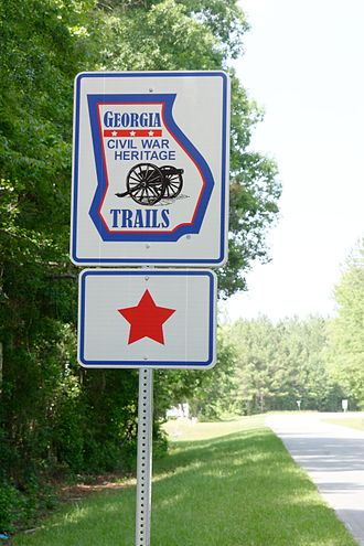 Georgia in the American Civil War - Trails sign