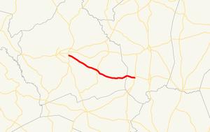 Georgia State Route 242 - Image: Georgia state route 242 map
