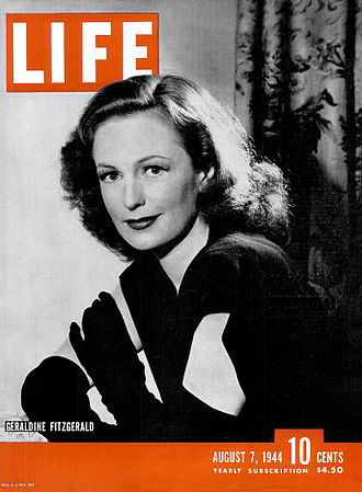 Geraldine Fitzgerald - Fitzgerald on the cover of Life magazine (August 7, 1944)