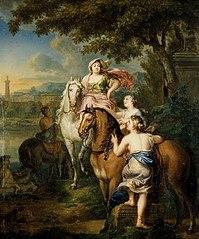 De vlucht van Cloelia over de Tiber