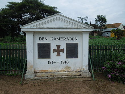 WWI Memorial in Iringa, Tanzania. German WW1 Memorial in Iringa.jpg