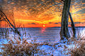 Gfp-wisconsin-madison-sunset-over-the-ice-between-trees.jpg