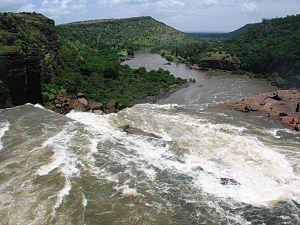 Gokak - Image: Ghataprabha river at Gokak Falls