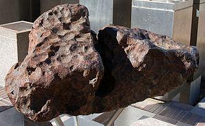 Gibeon (meteorite) - Gibeon meteorites in Post Street Mall, Windhoek