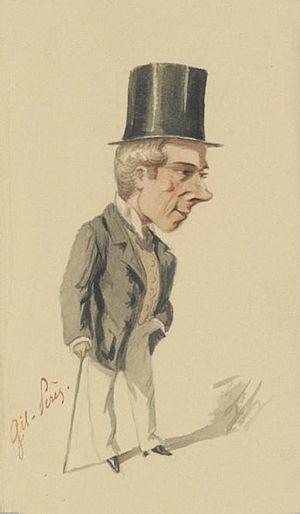 Gil-Pérès - Gil-Pérès in the role of Cascaro (Les trois fils de Cadet-Roussel) : portrait by Lhéritier (1860)