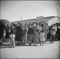 Gila River Relocation Center, Rivers, Arizona. A view of part of the crowd witnessing the Harvest F . . . - NARA - 538655.tif