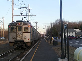 Gillette, New Jersey - Image: Gillette Station with leaving train