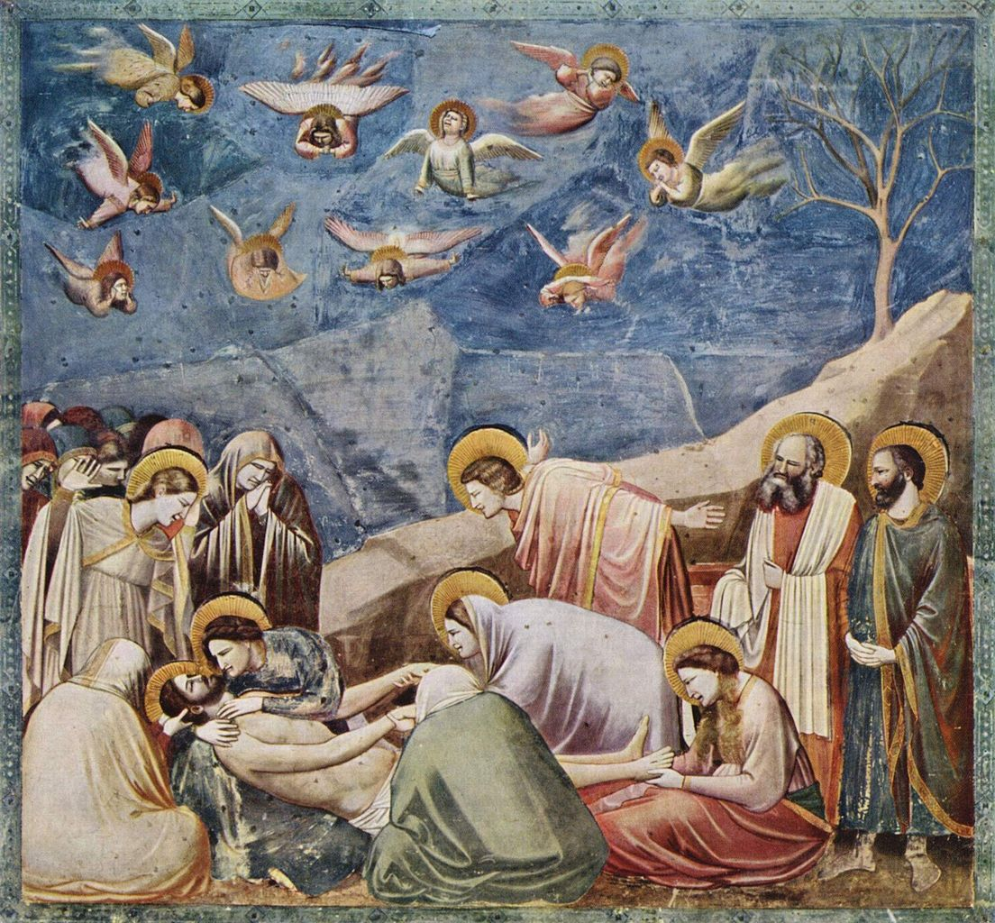 an analysis of the lamentation by giotto Lamentation by giotto in the scrovegni chapel, c 1305 the lamentation of christ is a very common subject in christian art from the high middle ages to the baroque after jesus was crucified, his body was removed from the cross and his friends mourned over his body this event has been depicted by many different artists.