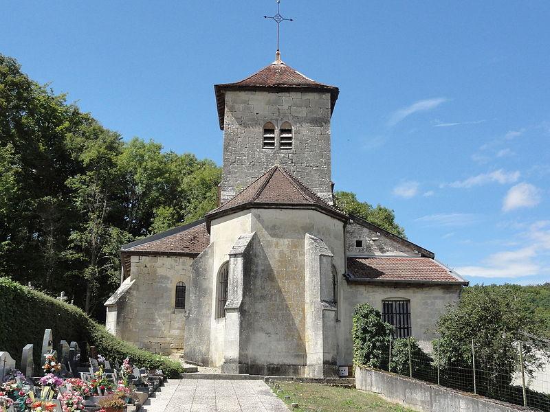 Givrauval (Meuse) église Saint Quentin chevet